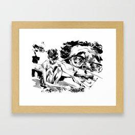 gold digging Framed Art Print