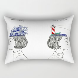 The Chaos and The Calm Rectangular Pillow