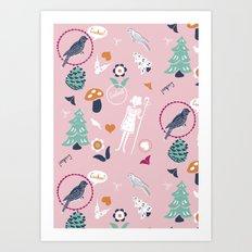 Folk Cuckoo Art Print