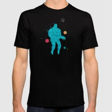 Burning Man LARGE Black Mens Fitted Tee