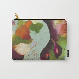 """""""Clouds Gave My Soul An Idea"""" Original Painting by Flora Bowley Carry-All Pouch"""