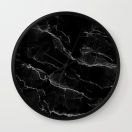 Smoke Black Marble Wall Clock