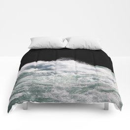 Water Photography   Wild Rapids   Waves   Ocean   Sea Minimalism Comforters