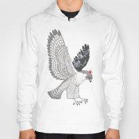 hawk Hoodies featuring hawk by talltree