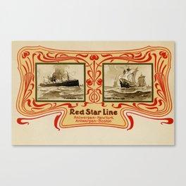 Red Star Line Antwerp New York ocean liners Canvas Print