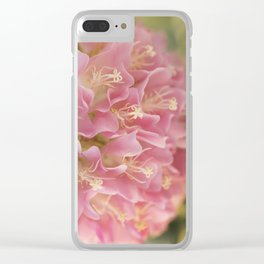 Tropical Hydrangea Clear iPhone Case