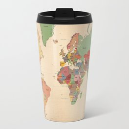Mercator Map Modern Travel Mug