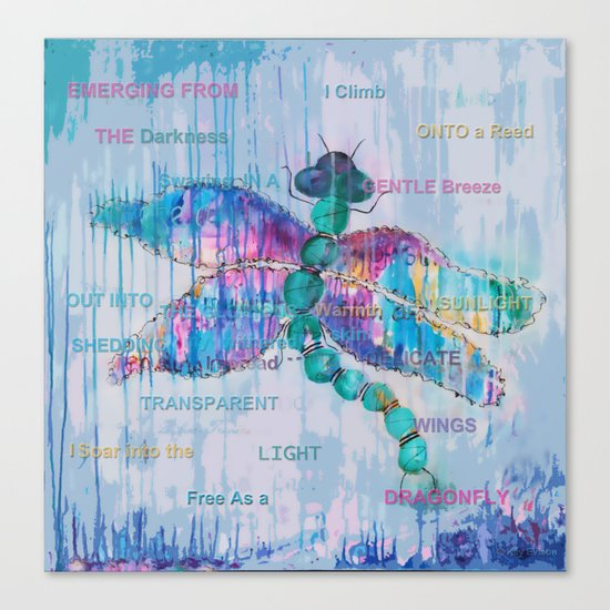 Journey of the Dragonfly Canvas Print