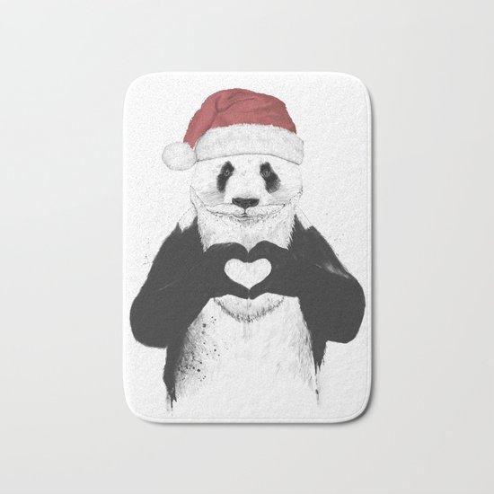 Santa panda Bath Mat