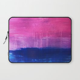 Bisexual Flag: abstract acrylic piece in pink, purple, and blue #pridemonth Laptop Sleeve
