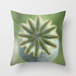 Poppy seed head Throw Pillow