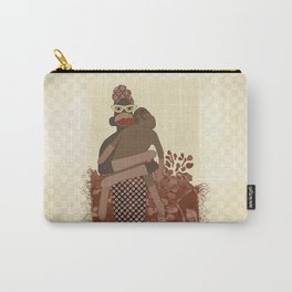 Sock Monkey Mother and Child Carry-All Pouch