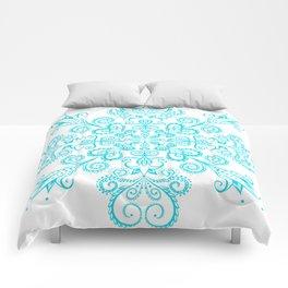 Snow flowers. Comforters