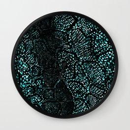 Turquoise Snake Skin Wall Clock