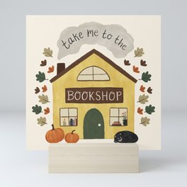 Take Me to the Bookshop Mini Art Print