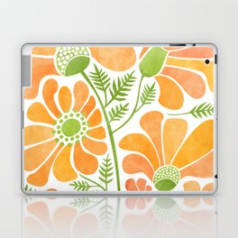 Happy California Poppies / hand drawn flowers Laptop & iPad Skin