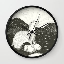 Smooth Coated River Otter Wall Clock