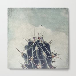Cactus with textured background Metal Print