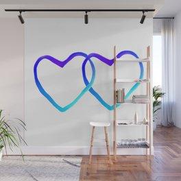 Blue Heart Wall Mural
