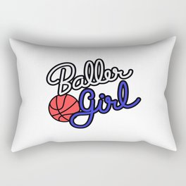 Baller Girl Rectangular Pillow
