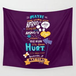 """""""Maybe there's something..."""" Wall Tapestry"""
