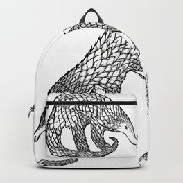 Animal Pattern, Pangolin, Manis, Monochrome Art, Black and white, Animals lovers gifts, Vets and pet Backpack