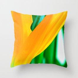 Strelitzia reginae (Green version) Throw Pillow
