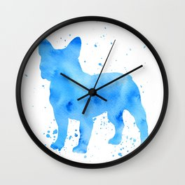 Frenchie splatter Wall Clock