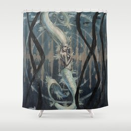 Mermaid's Heartbeats Shower Curtain