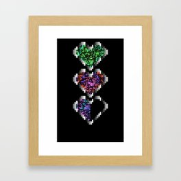 Pixel heart Framed Art Print