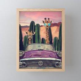 Giraffes are cool too Framed Mini Art Print
