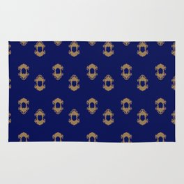 Kingly Design Gold on Royal Blue Rug
