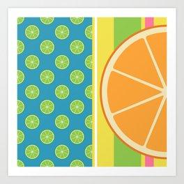 Summer Citrus Party Art Print