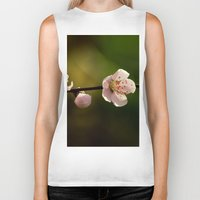 cherry blossoms Biker Tanks featuring Cherry Blossoms by Ian Bevington