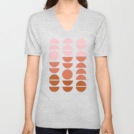 Modern Desert Color Shapes Unisex V-Neck