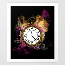 Time - Alice in Wonderland Art Print