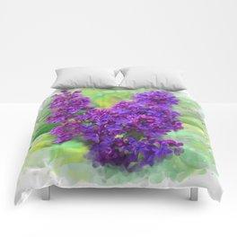 Watercolor Lilac Comforters