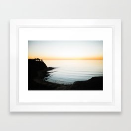 Coastal Twilight Framed Art Print