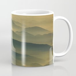 Foggy Mountain Layers at Sunset Rural / Rustic Landscape Photograph Coffee Mug