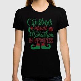 Love Christmas Movie Marathon In Progress T-shirt