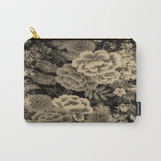 Vintage Floral Abstract Carry-All Pouch