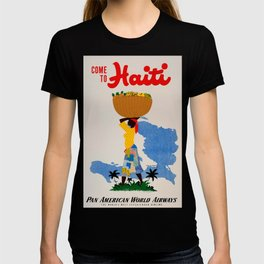 Come to Haiti Vintage Travel Poster T-shirt