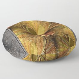 Fall Colours Abstract Floor Pillow