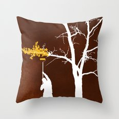 Relief Painting Throw Pillow