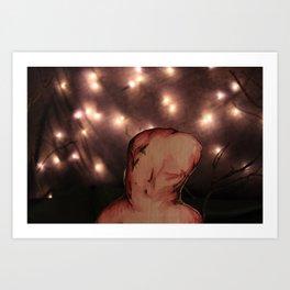 Starry Knight 2 (WaterWings) Art Print