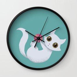 Mischievous kitty Wall Clock