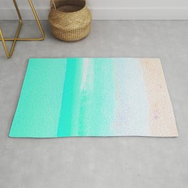 Blissful Beach - Turquoise Wave Rug