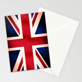 Union Jack UK British Grunge Flag  Stationery Cards
