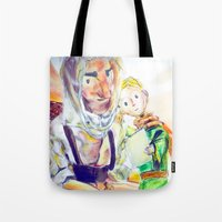 le petit prince Tote Bags featuring Le Petit Prince by Halina  Jasińska photography