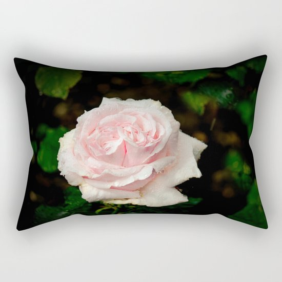 Rose twins with droplets Rectangular Pillow